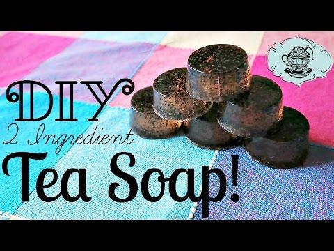 DIY 2 Ingredient Tea Soap How To Tutorial ¦ The Corner of Craft