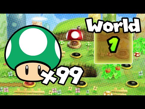 How To Get 99 Lives In WORLD 1!   New Super Mario Bros. Wii LIVES TRICK!