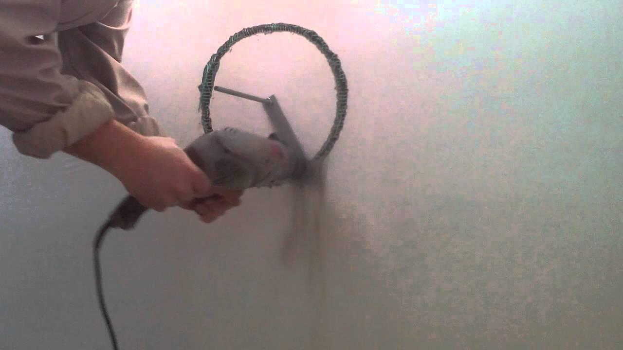 как просверлить большое отверстие в стене