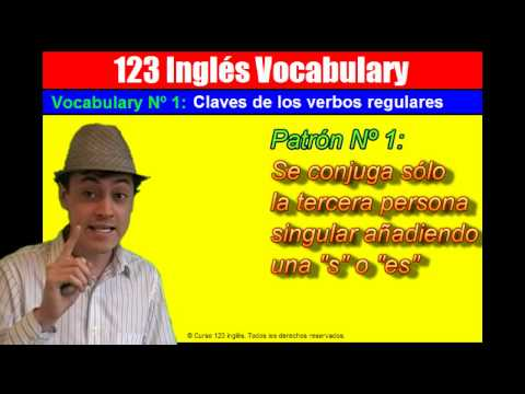 Vocabulary Nº 1: Las claves para entender los verbos regular