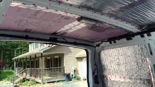 In detail van build series;  insulation!