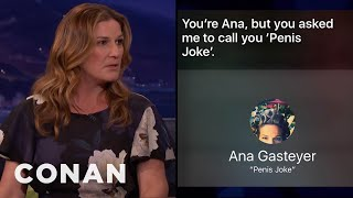 Ana Gasteyer's Son's iPhone Prank  - CONAN on TBS
