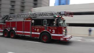Chicago Fire Department: Truck 3 Responding [4-2-2019]