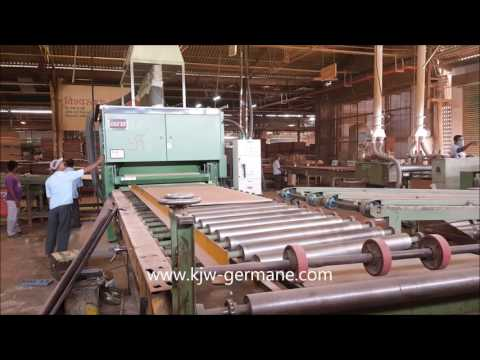 KJW DOUBLE SIZER & SANDING LINE IN SHARON PLYWOOD