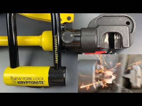 [797] Hydraulic Cutter EXPLODES vs. Kryptonite New York Fahgettaboudit Lock