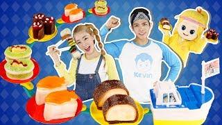 수상한 맛의 젤리 초밥과 마시멜로우 꼬치?! 주방장 캐빈의 이상한(?) 초밥 만들기 놀이 l 캐리와장난감친구들