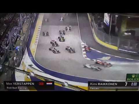 Formula 1 - f1 gp Singapore 2017 carambolata - crash accident