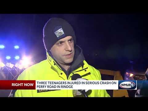 3 teenagers hurt in serious crash in Rindge