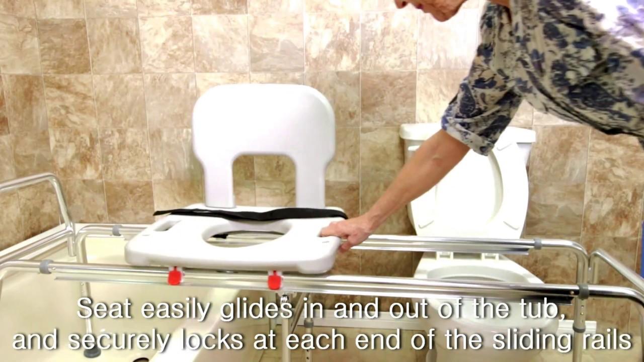 XX-Long Toilet to Tub Sliding Transfer Bench