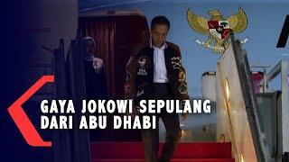 Penampilan Jokowi Sepulang dari Abu Dhabi