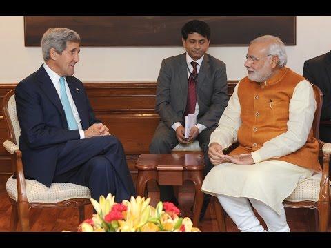 US Secretary of State John Kerry calls on PM Narendra Modi