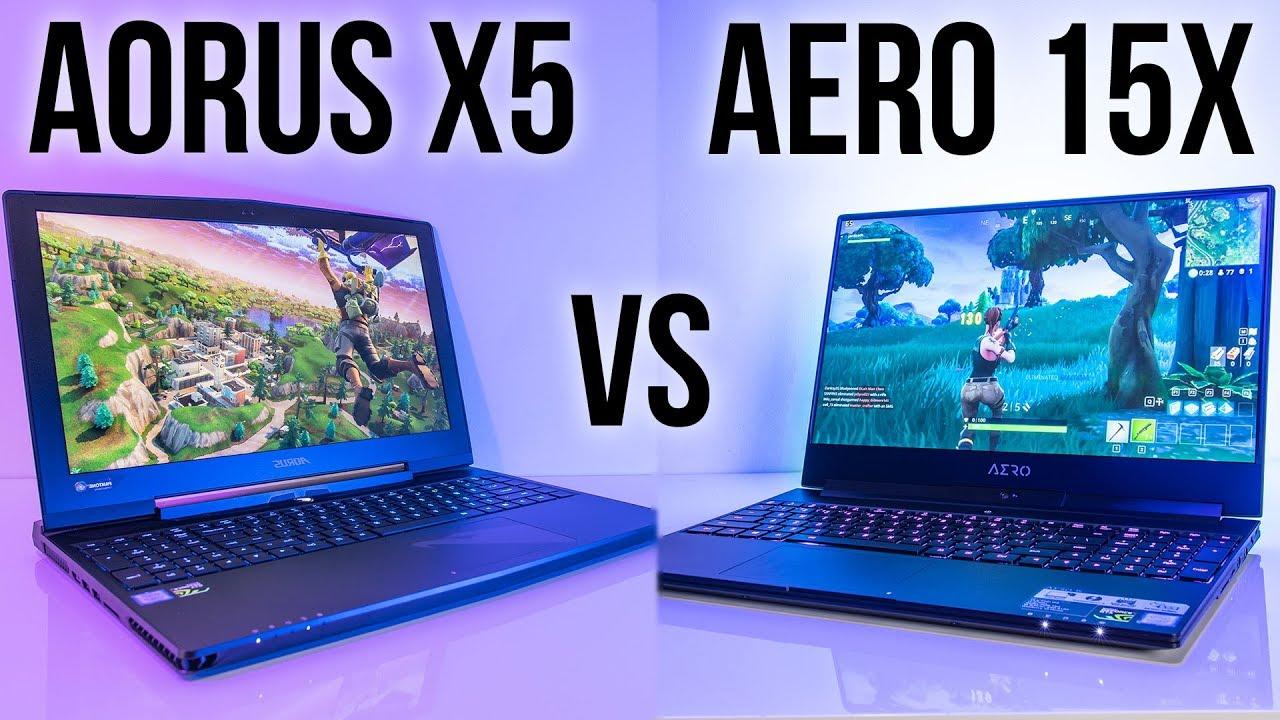 Gigabyte Aero 15x vs Aorus X5 - 8th Gen Gaming Laptop Comparison
