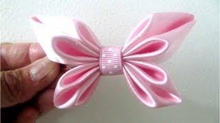 Repeat youtube video Moños para el cabello en cintas diseño mariposa