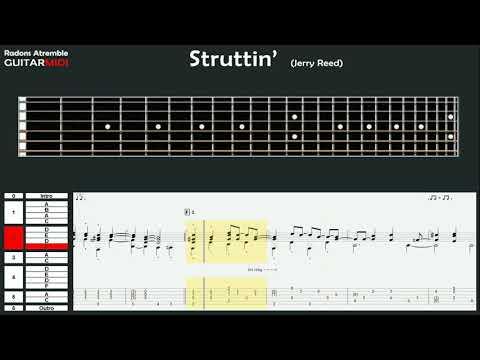 Struttin' - (Jerry Reed) - Tommy Emmanuel - Guitar Midi Tabs & Score