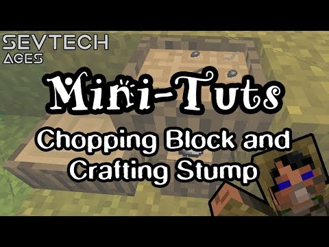 How to Use the Chopping Block and Crafting Stump | Mini-Tuts