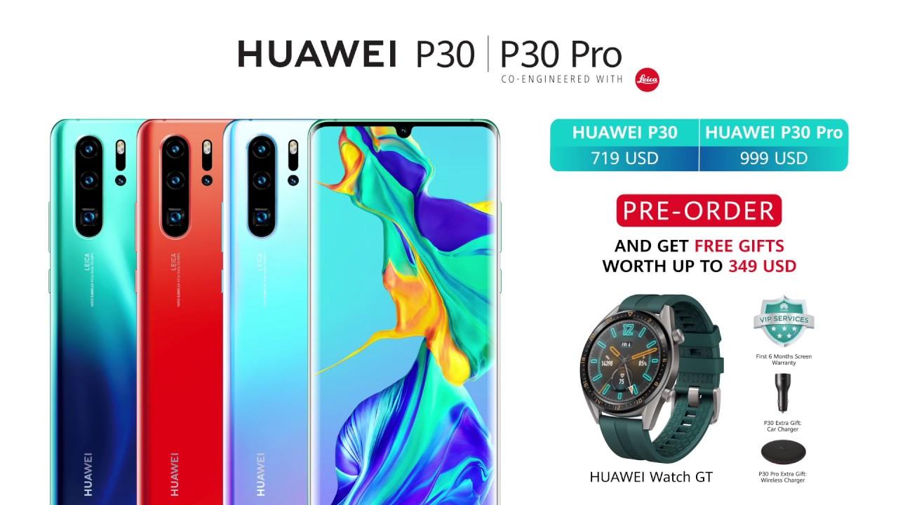 huawei p30 pro free watch gt
