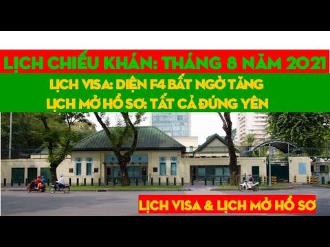 Lịch Visa và Lịch Mở Hồ Sơ Tháng 8/2021| Diện F4 Vẫn Có Lịch Phỏng Vấn[ visa Bulletin August 2021]