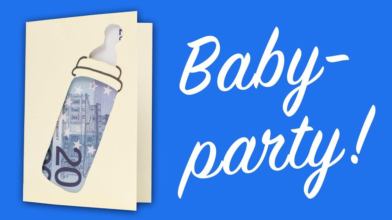 Geldgeschenk Geburt: Babyflasche als Glückwunschkarte - YouTube