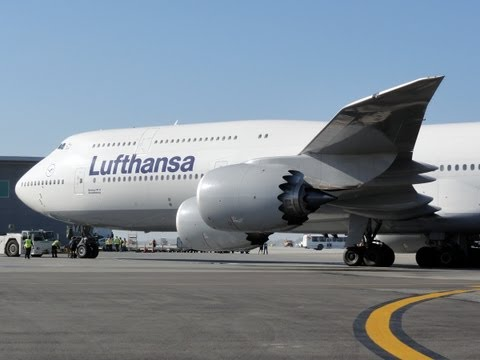 Lufthansa Boeing 747-830 Intercontinental [D-ABYA] Inaugural Flight to LAX