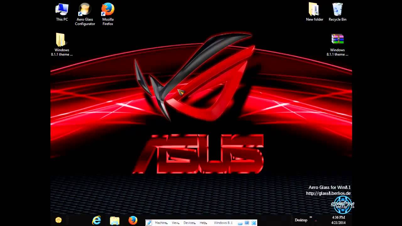 ASUS ROG Windows 8.1 Theme by ~ Tiger - YouTube