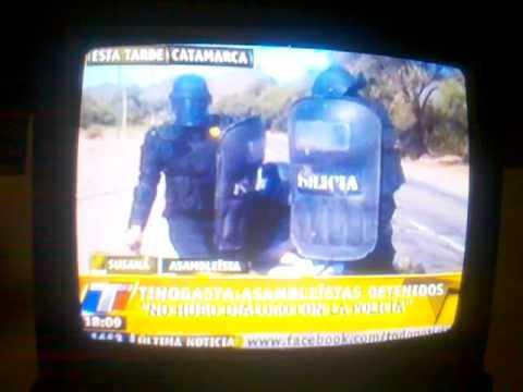 12-05-. Represión en Tinogasta (Catamarca). Megaminería a Cielo Abierto.