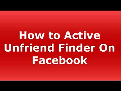 How to Active Unfriend Finder On Facebook!!