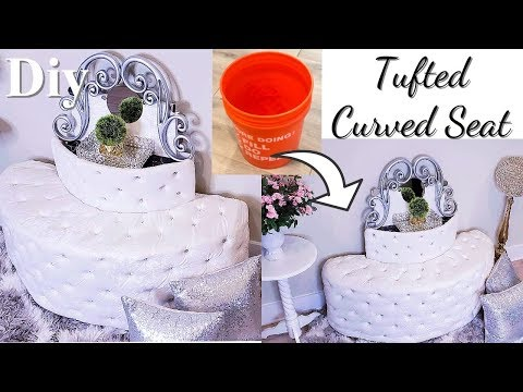 HOW TO TURN OLD BUCKETS INTO CURVED SEATS - INEXPENSIVE ROOM DECOR IDEAS!
