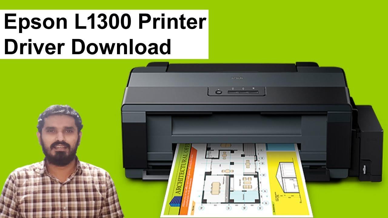Epson L1300 Printer Driver Download And Install In Windows10 Youtube