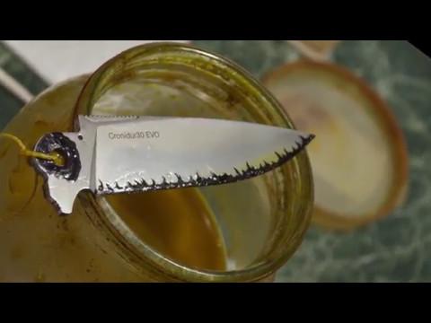 видео: Травление рисунка на  клинке в три слоя