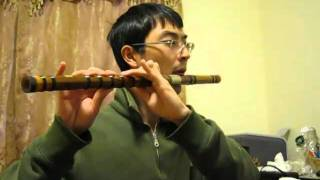 Naruto Main Theme on Bamboo Flute - old version!