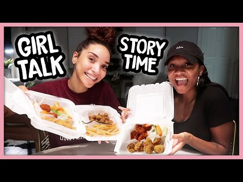 Crazy Drunk Story, Fake Friends, Does She Like My Boyfriend? | GIRL TALK MUKBANG