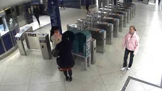 Övervakningsfilm från misshandeln av Martin Kinnunens sambo (del 2)
