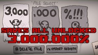 Descargar TBOI Afterbirth PLUS Update 22 Saves All Unlocked 3 000 000 Daily Run MODs
