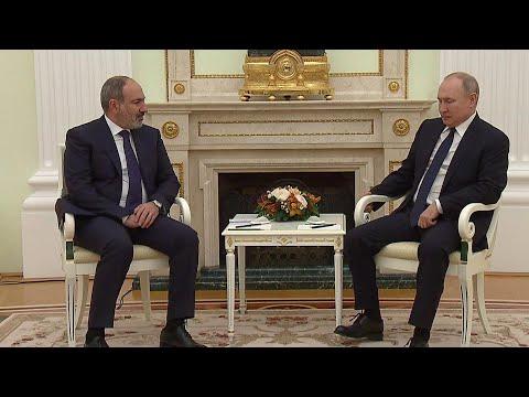 Ситуацию в Нагорном Карабахе обсудили президент России и премьер-министр Армении.