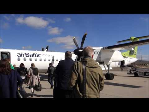 Air Baltic Dash 8 Q400 Amsterdam to Vilnius