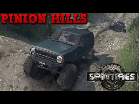 SpinTires | Pinion Hills | Map Mod | SID Jeep Cherokee