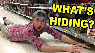 ARE THINGS HIDING? SEARCHING THE STORE FOR HIDDEN POKEMON CARD PACKS!