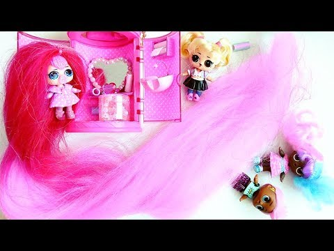 LOL DOLL with the Longest Hair and New LOL #Hairgoals! Video for children