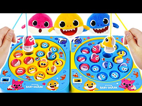 Pinkfong & BabyShark Melody Mini Fishing Game! Let's Go Catch Fish With Shark Family~!   PinkyPopTOY