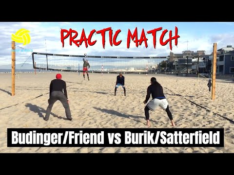 Men's Beach Volleyball Practic Match   Budinger/Friend vs Burik/Satterfield from YouTube · Duration:  7 minutes 54 seconds