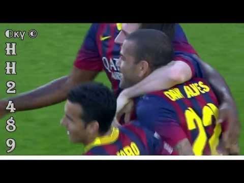 LEO MESSI HATTRICK ~ Barcelona vs Osasuna 7 0 ~ Barcelona 7-0 Osasuna ~ Liga BBVA ~ 16-03-2014