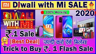 Trick to Buy Mi Rs. 1 Flash Sale | Mi ₹ 1 Flash Sale Tricks | Buy Redmi Note 9 Pro, Band 5 Only Rs.1