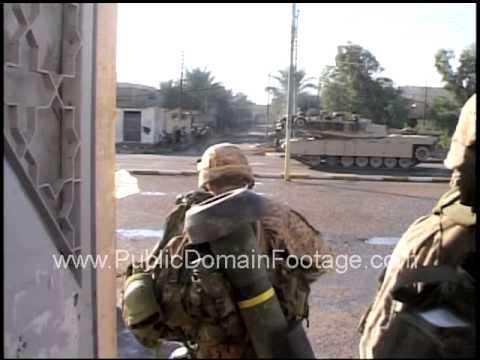 Operation Phantom Fury combat footage Marines and tanks in Fallujah 2004 archival footage