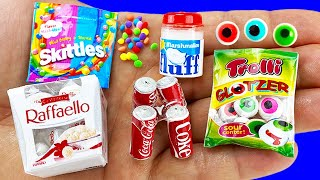 10 DIY MINIATURE FOOD AND DRINKS HACKS AND CRAFTS !!!!