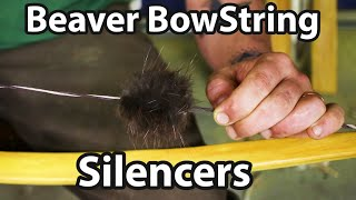 Beaver balls//fur bow string silencers traditional//recurve longbow//compoundbow