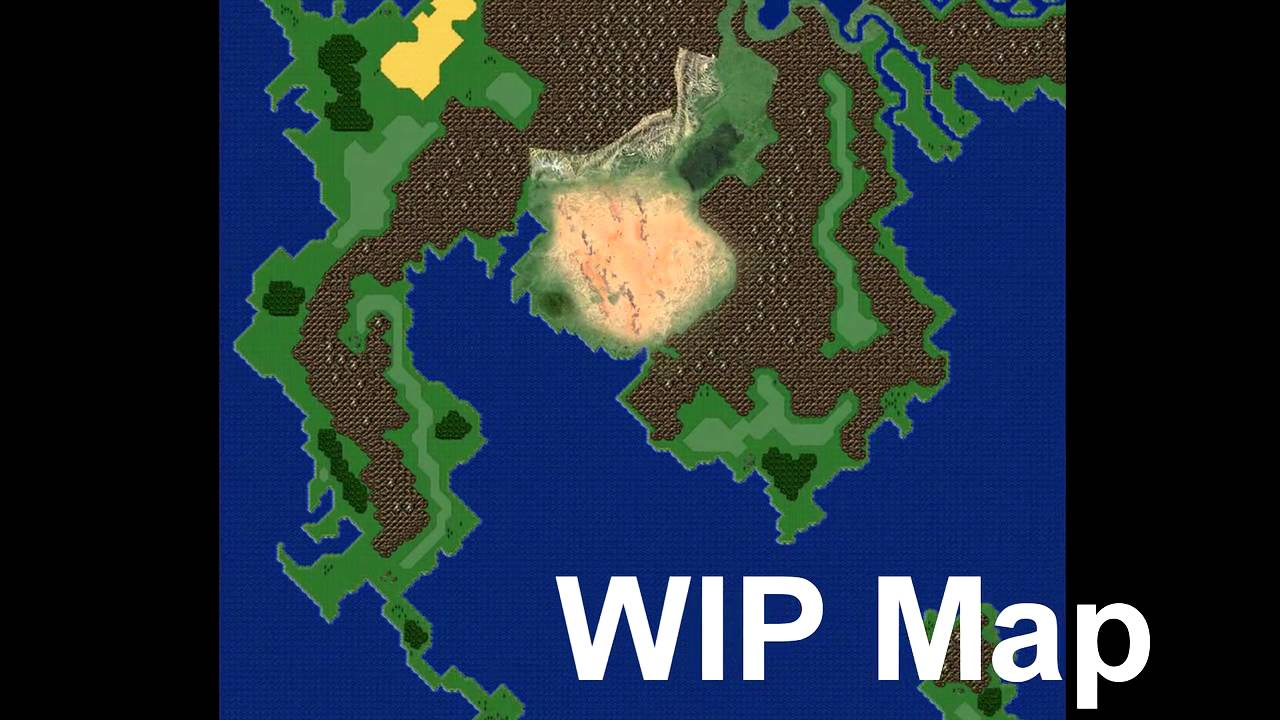 Final Fantasy VI MAP recreated as from satellite Work in Progress – Ff6 World Map Theme