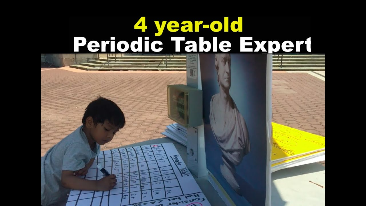 4 Year old Periodic Table Expert