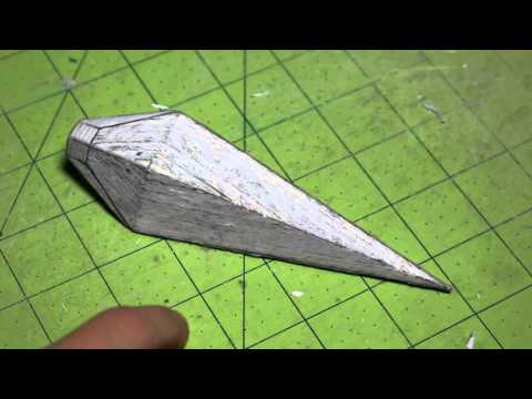 (BLADE SECTION FINISHED) Hardened Paper Kunai Update 7