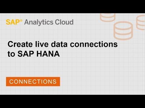 Create a live data connection to SAP HANA | SAP | SAP