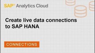 Create live data connections to SAP HANA: SAP Analytics Cloud (2018.14.1)